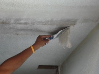 Удаление меловой покраски со стен